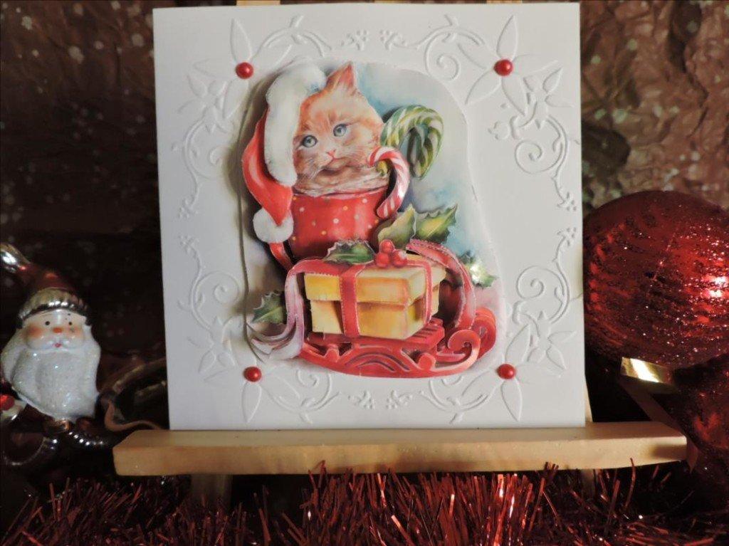 Carte 3D-Noël 2017-Le Chaton Père Noël-DSCN0809