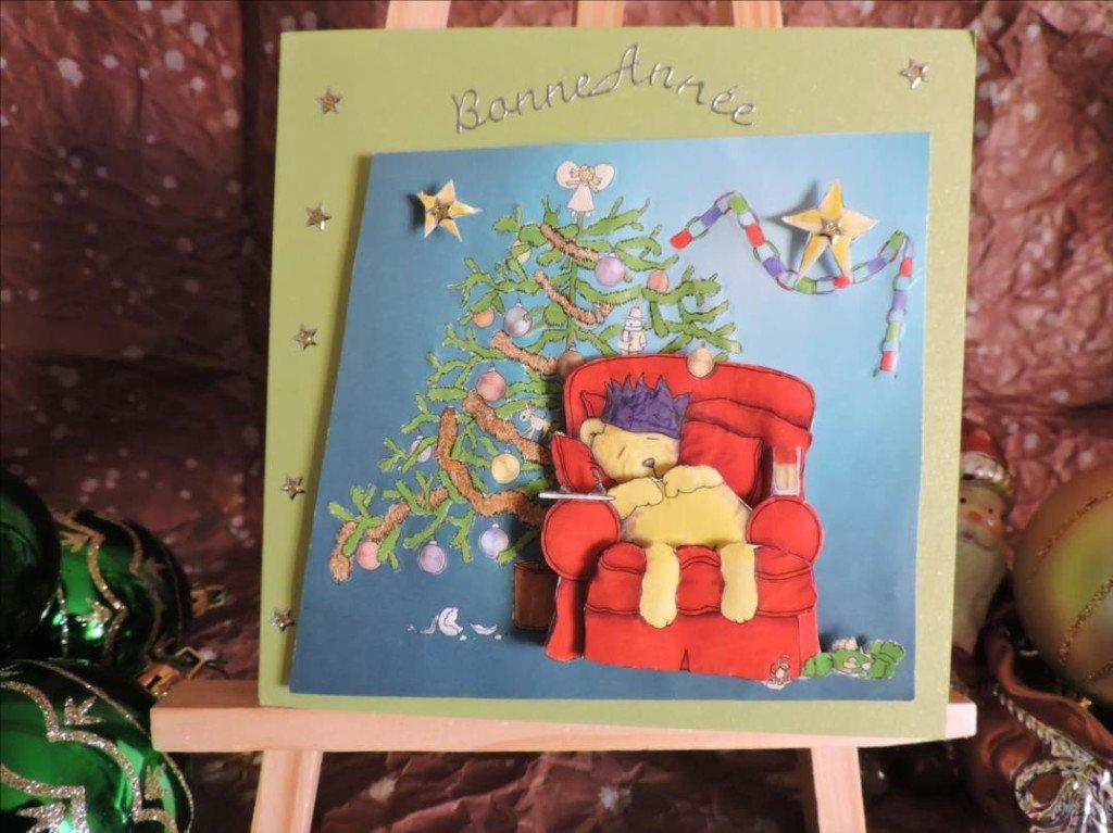 Carte 3D - Noël 2017 - Le Roi Nours attendant le Père Noël-DSCN0807