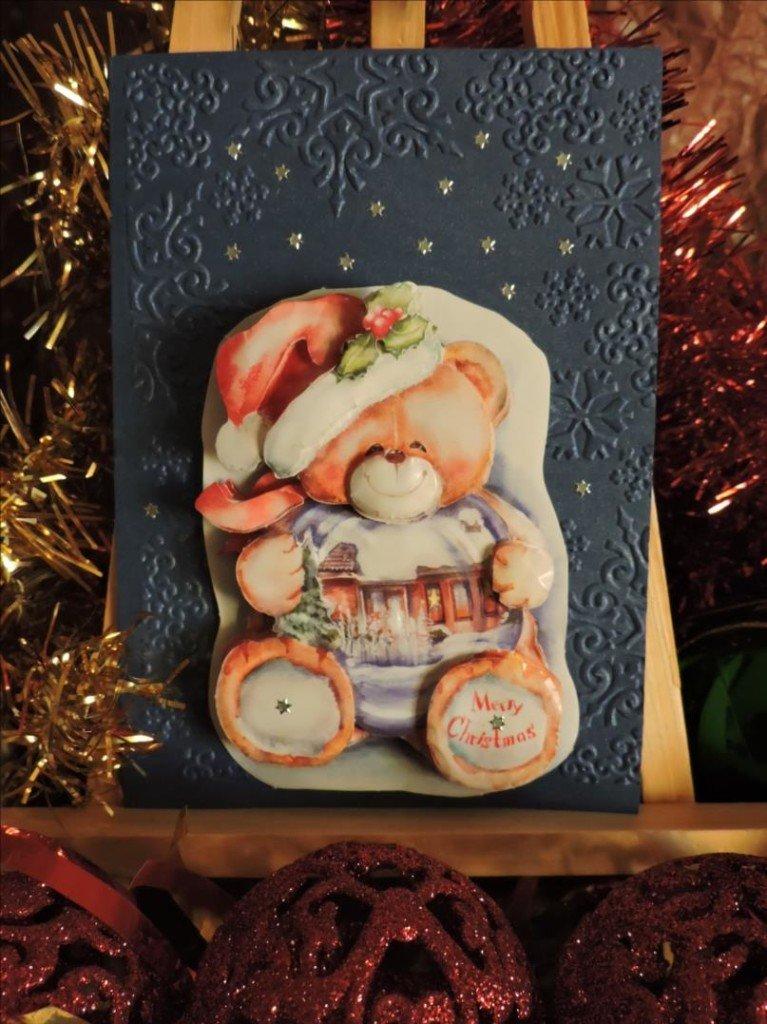 Carte 3D - Noël 2017 - Nounours Merry Christmas-DSCN0814