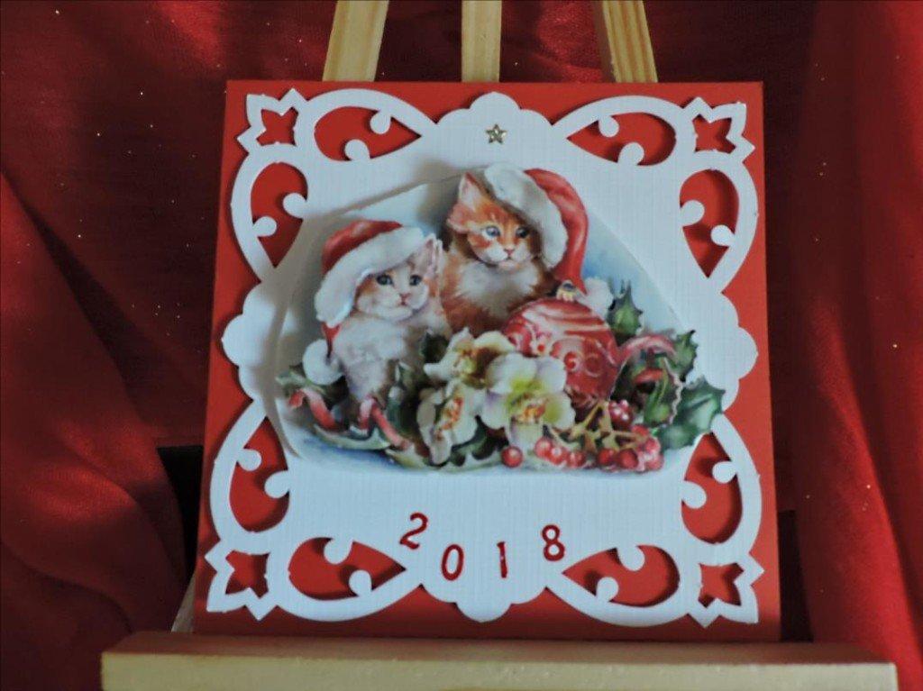 Carte 3D - Voeux 2018 - Bonne Année les chatons-DSCN0803