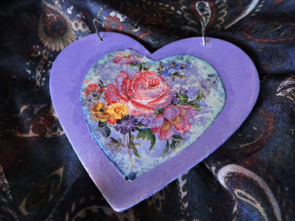 Serviettage Noël 2017-DSCN0835-Coeur de Roses fleuri