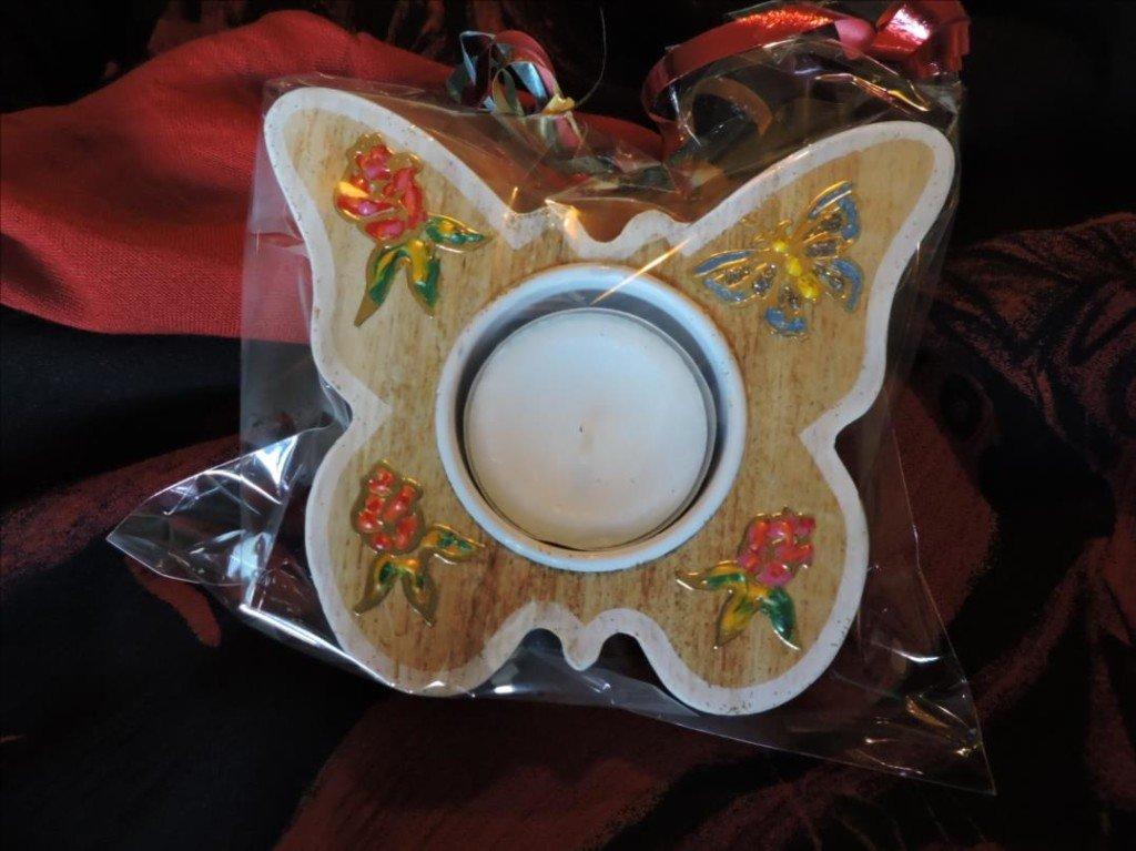 Serviettage Noël 2017-DSCN0842-Bougeoire papilon décoré
