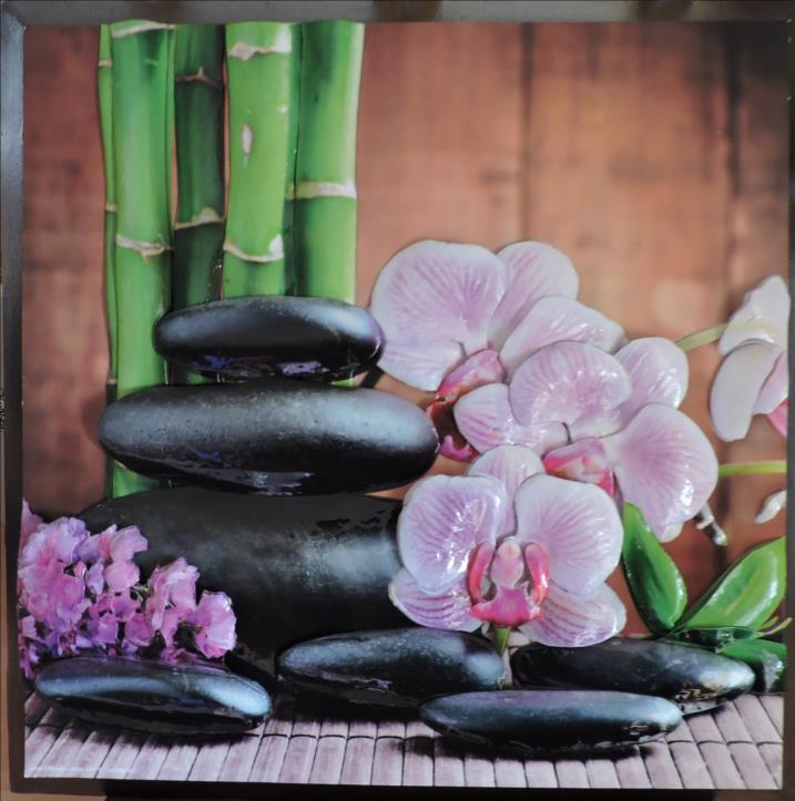 DSCN1271-Cadre 3D - 2018 - Bambou orchidées-Fête des Mères