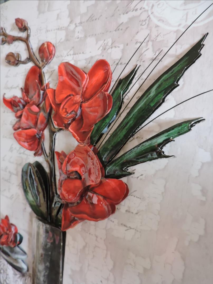 DSCN1279-Cadre 3D - 2018 - Vase Orchidées rouges