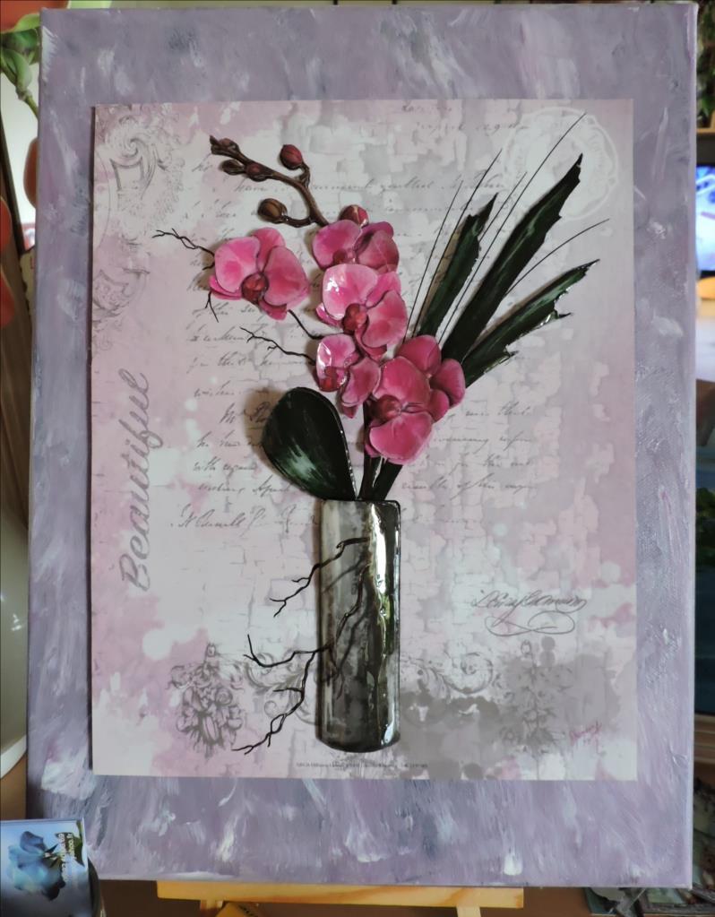 DSCN1281-Cadre 3D - 2018 - Vase Orchidées roses