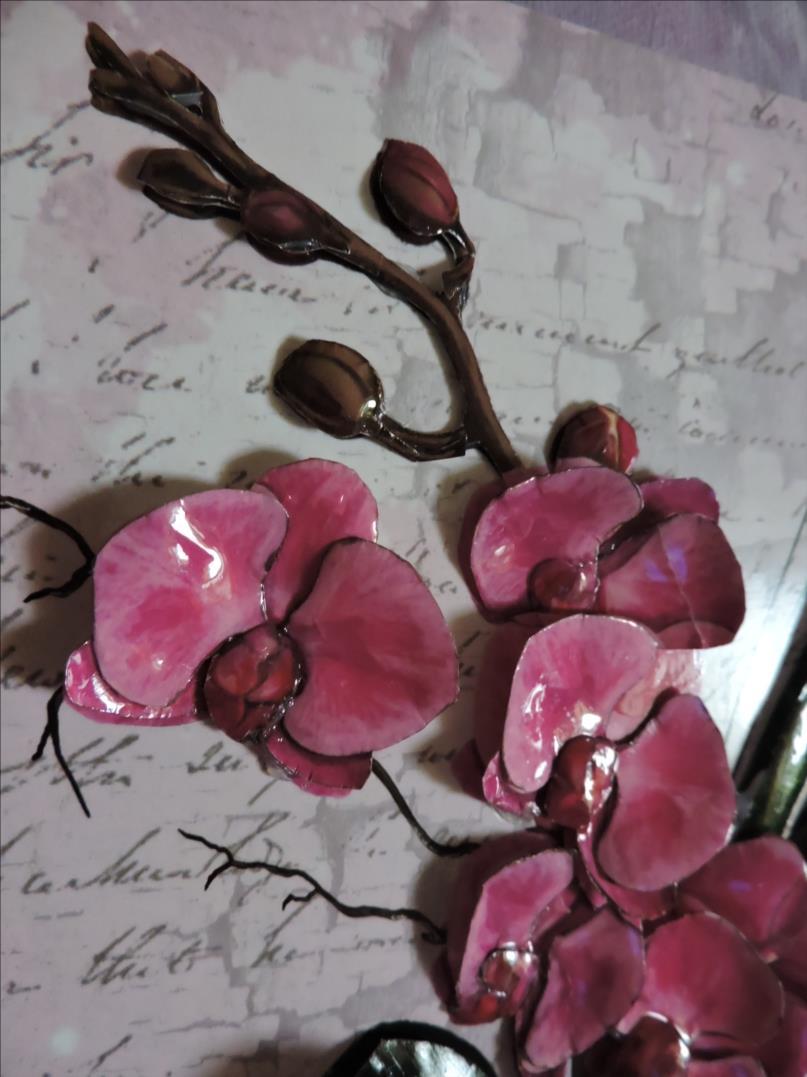 DSCN1283-Cadre 3D - 2018 - Vase Orchidées roses